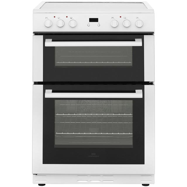 Newworld 60EDOMC 60cm Electric Cooker with Ceramic Hob - White - A/B Rated - 60EDOMC_WH - 1