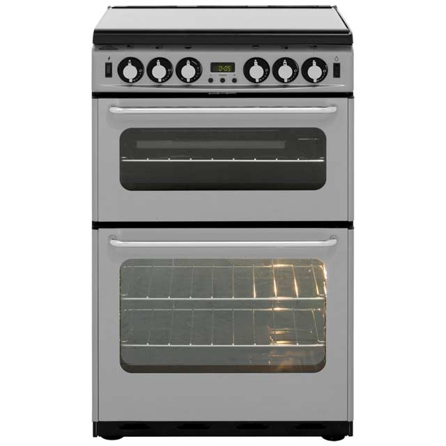 Newworld Newhome NW550TSIDLM Gas Cooker with Gas Grill - Silver - A Rated - NW550TSIDLM_SI - 1