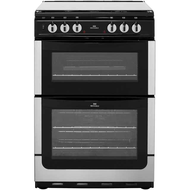 Newworld NW601DFDOL Dual Fuel Cooker - Stainless Steel - A/A Rated
