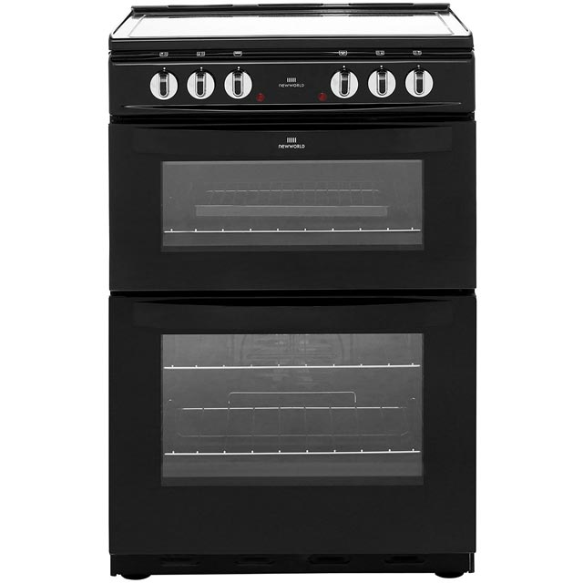 Newworld 60cm Electric Cooker with Ceramic Hob - Black - A Rated