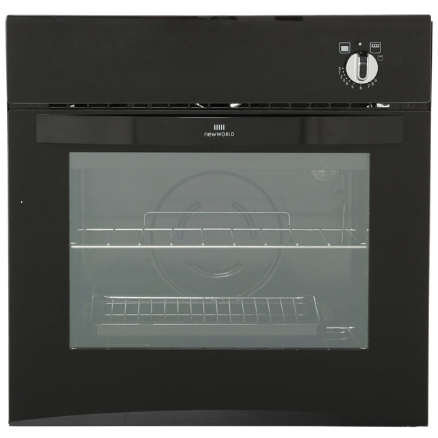 Newworld NW601G Built In Gas Single Oven - Black - A Rated - NW601G_BK - 1