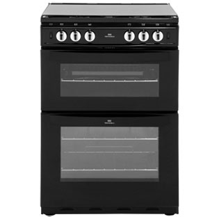 Newworld NW601GTCL 60cm Gas Cooker with Full Width Gas Grill - Black - A Rated - NW601GTCL_BK - 1
