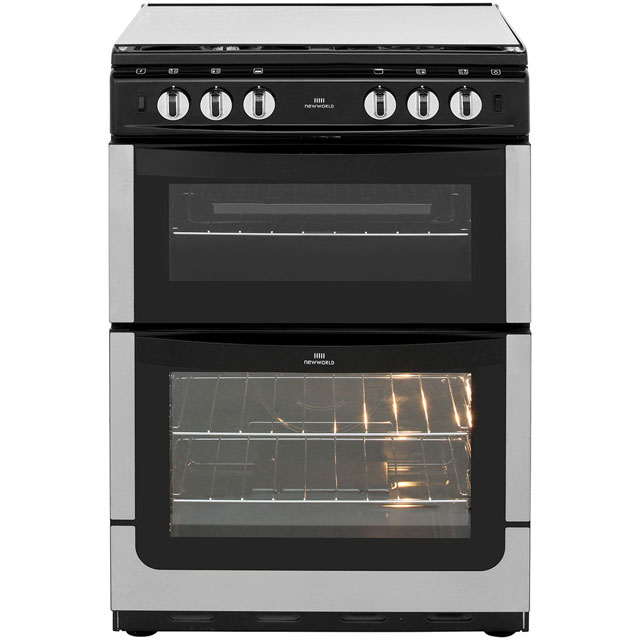 Newworld NW601GTCL Gas Cooker with Full Width Gas Grill - Stainless Steel - A Rated