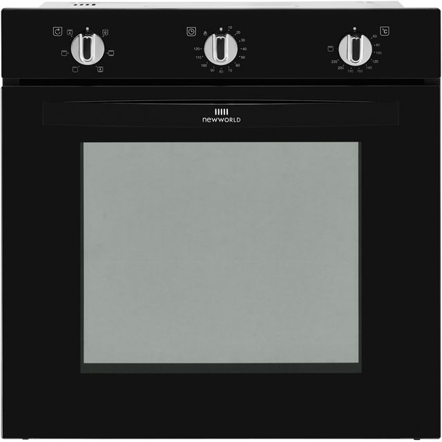 Newworld NW602F Built In Electric Single Oven - Black - A Rated - NW602F_BK - 1