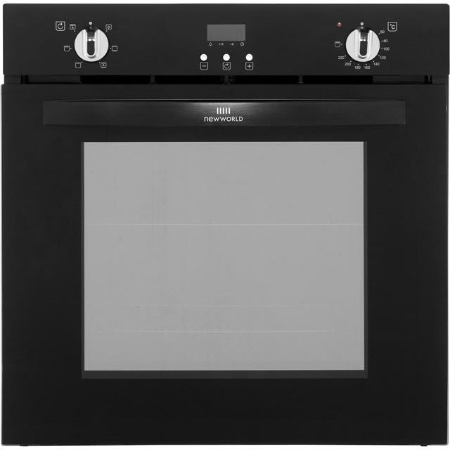 Newworld NW602FP Built In Electric Single Oven - Black - A Rated - NW602FP_BK - 1