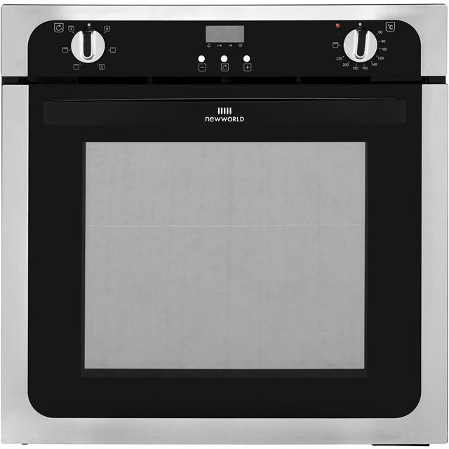 Newworld NW602FP Built In Electric Single Oven - Stainless Steel - A Rated - NW602FP_SS - 1