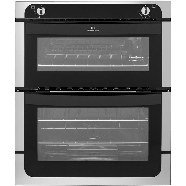 Newworld Gas Twin Cavity Single Oven - Stainless Steel - B Rated