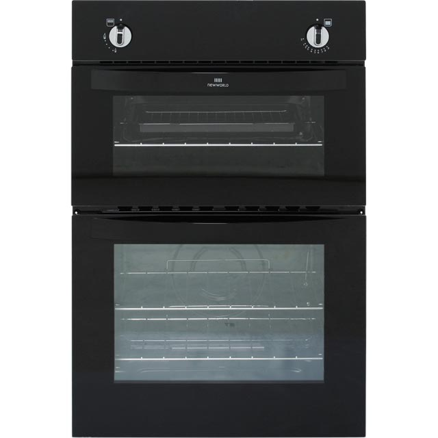 Newworld NW901G Built In Gas Twin Cavity Single Oven - Black - A Rated - NW901G_BK - 1