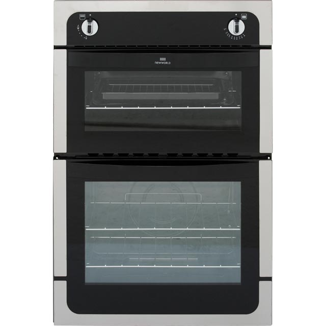 Newworld NW901G Built In Gas Twin Cavity Single Oven - Stainless Steel - A Rated - NW901G_SS - 1