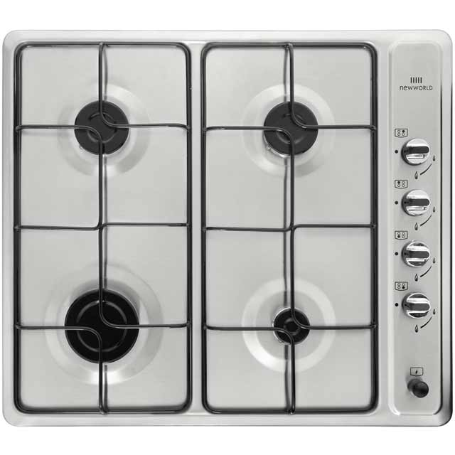 Newworld NWGHU601 Built In Gas Hob - Stainless Steel - NWGHU601_SS - 1