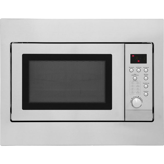 Newworld UIM600 Built In Microwave With Grill - Stainless Steel - UIM600_SS - 1