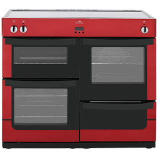 Newworld VISION100Ei 100cm Electric Range Cooker with Induction Hob - Red - A Rated - VISION100Ei_RD - 1