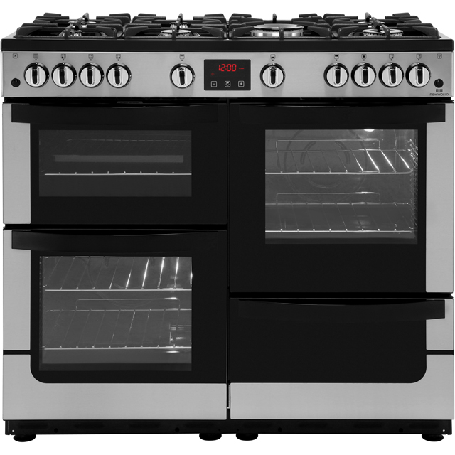 Newworld Gas Range Cooker - Stainless Steel - A/A Rated