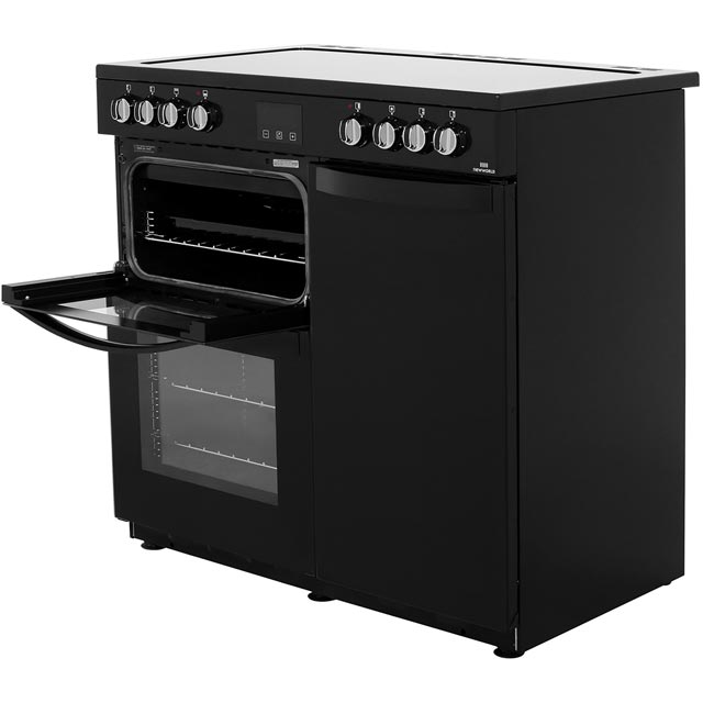 Newworld Vision 90E 90cm Electric Range Cooker - Red - Vision 90E_RD - 2