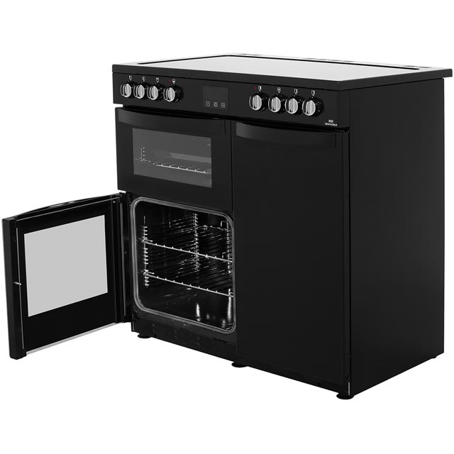 Newworld Vision 90E 90cm Electric Range Cooker - Red - Vision 90E_RD - 3