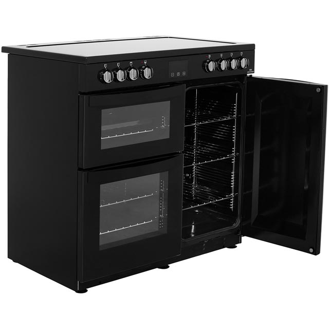 Newworld Vision 90E 90cm Electric Range Cooker - Red - Vision 90E_RD - 4