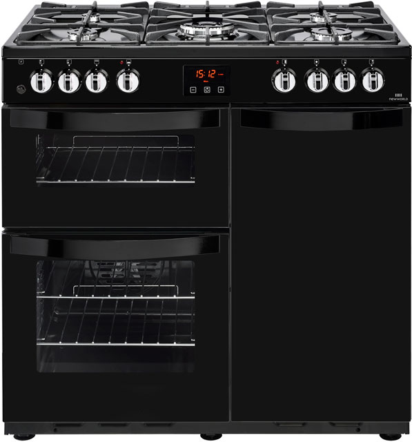 Newworld Vision 90DF Free Standing Range Cooker in Black