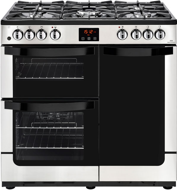 Newworld 90cm Dual Fuel Range Cooker - Stainless Steel - A/A Rated
