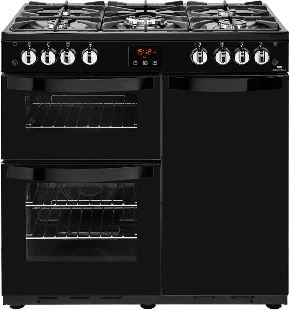 Newworld Vision 90G  Free Standing Range Cooker in Black