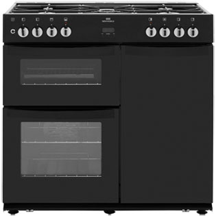 Newworld VISION90DF 90cm Dual Fuel Range Cooker - Black - A/A Rated - VISION90DF_BK - 1
