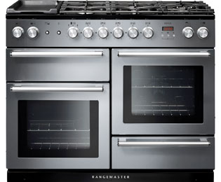 Rangemaster Nexus 110cm Dual Fuel Range Cooker - Stainless Steel - A Rated