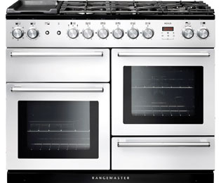 Rangemaster Nexus NEX110DFFWH/C 110cm Dual Fuel Range Cooker - White - A Rated