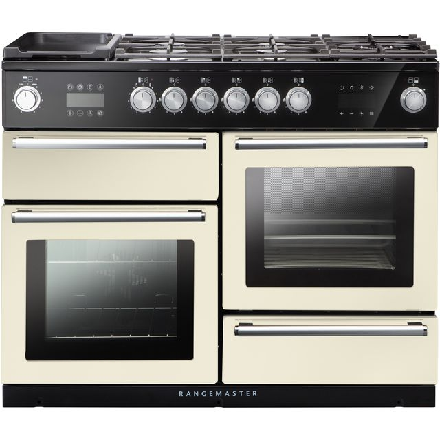 Rangemaster Nexus Steam 110cm Dual Fuel Range Cooker - Ivory / Chrome - A Rated