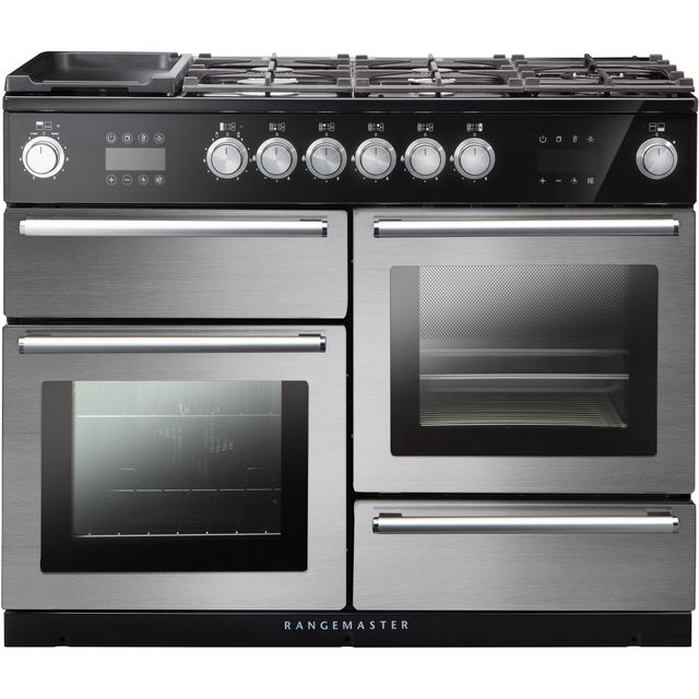 Rangemaster Nexus Steam 110cm Dual Fuel Range Cooker - Stainless Steel - A Rated