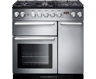 Rangemaster Nexus 90cm Dual Fuel Range Cooker - Stainless Steel - A Rated