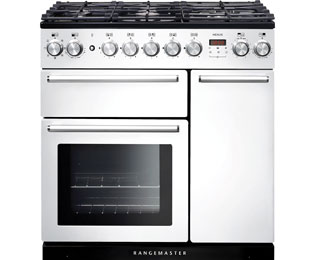 Rangemaster Nexus NEX90DFFWH/C 90cm Dual Fuel Range Cooker - White - A Rated