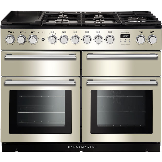 Rangemaster Nexus SE 110cm Dual Fuel Range Cooker - Ivory / Chrome - A/A Rated