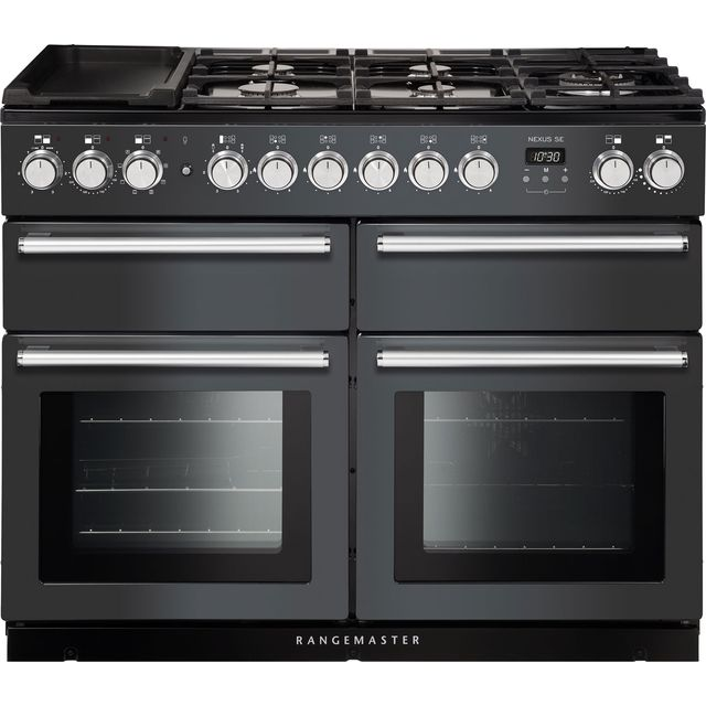 Rangemaster Nexus SE NEXSE110DFFSL/C 110cm Dual Fuel Range Cooker - Slate - A/A Rated
