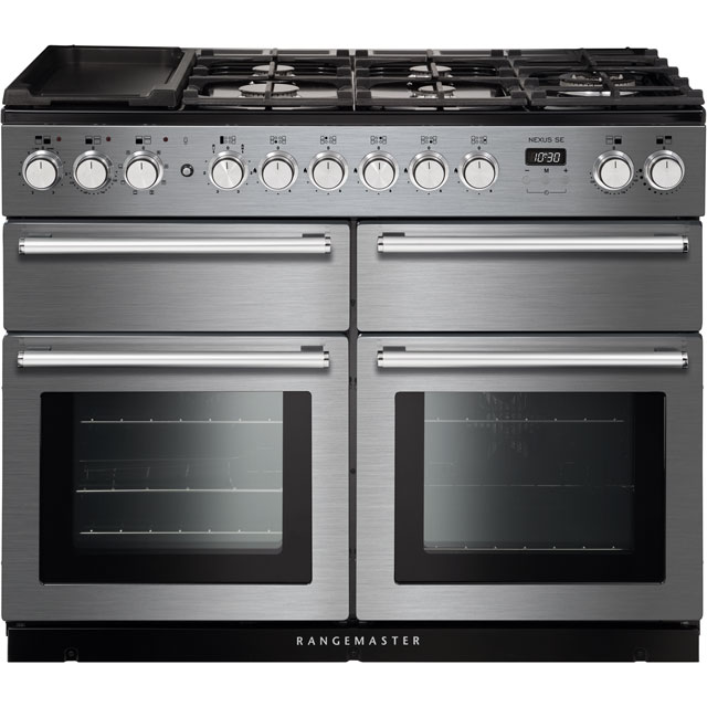Rangemaster Nexus SE NEXSE110DFFSS/C 110cm Dual Fuel Range Cooker - Stainless Steel / Chrome - A/A Rated