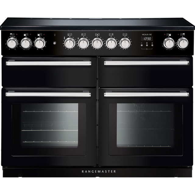 Rangemaster Nexus SE 110cm Electric Range Cooker with Induction Hob - Black / Chrome - A/A Rated