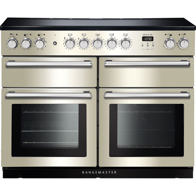 Rangemaster Nexus SE 110cm Electric Range Cooker with Induction Hob - Ivory / Chrome - A/A Rated