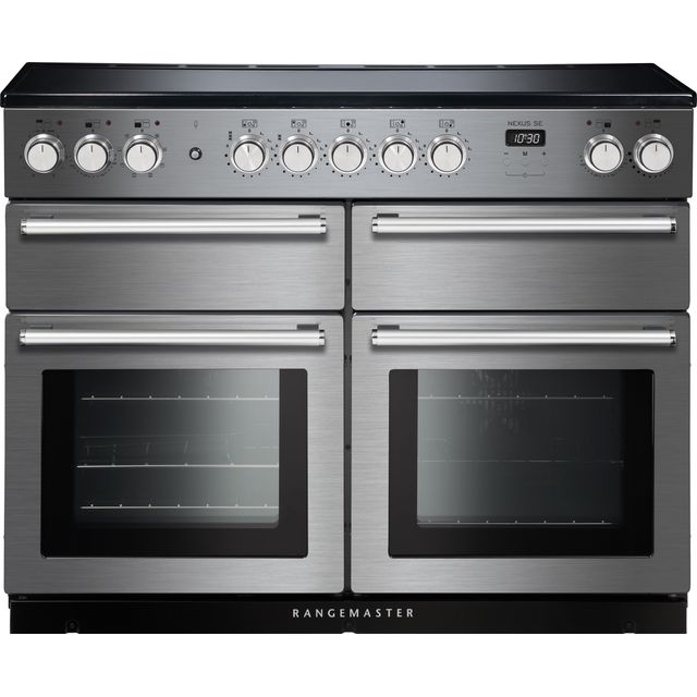 Rangemaster Nexus SE 110cm Electric Range Cooker with Induction Hob - Stainless Steel / Chrome - A/A Rated