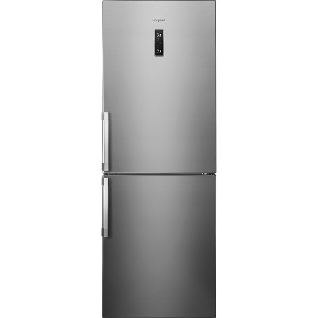 Hotpoint Day 1 NFFUD191X 60/40 Frost Free Fridge Freezer - Silver - A+ Rated Best Price, Cheapest Prices