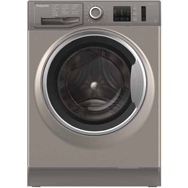 Hotpoint NM10844GSUK 8Kg Washing Machine with 1400 rpm - Graphite - A+++ Rated - NM10844GSUK_GH - 1
