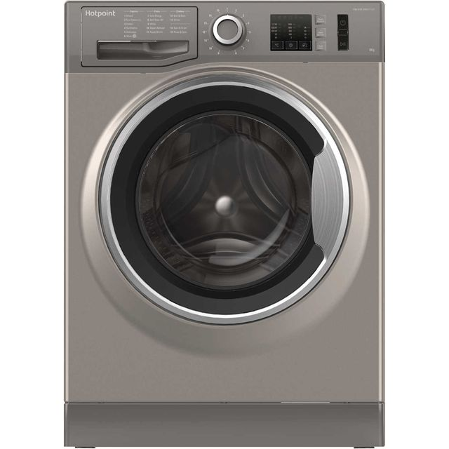 Hotpoint ActiveCare NM10844GSUK 8Kg Washing Machine with 1400 rpm - Graphite - A+++ Rated