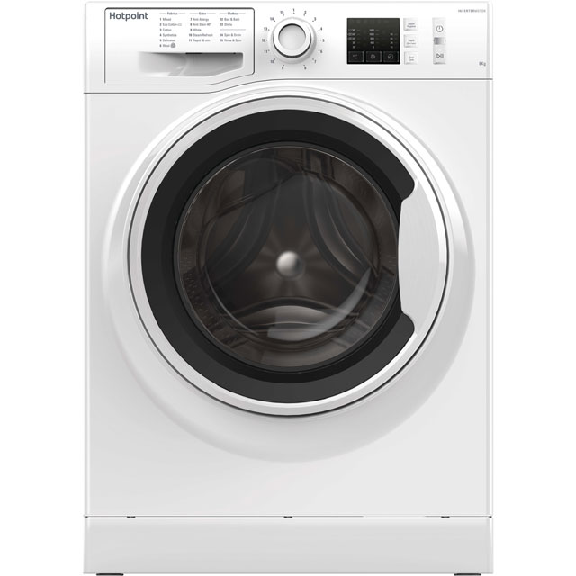 Hotpoint NM10844WWUK 8Kg Washing Machine with 1400 rpm - White - A+++ Rated - NM10844WWUK_WH - 1