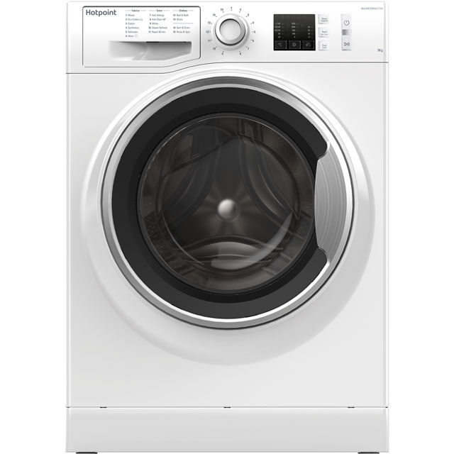 Hotpoint NM10944WSUK 9Kg Washing Machine with 1400 rpm - White - A+++ Rated - NM10944WSUK_WH - 1