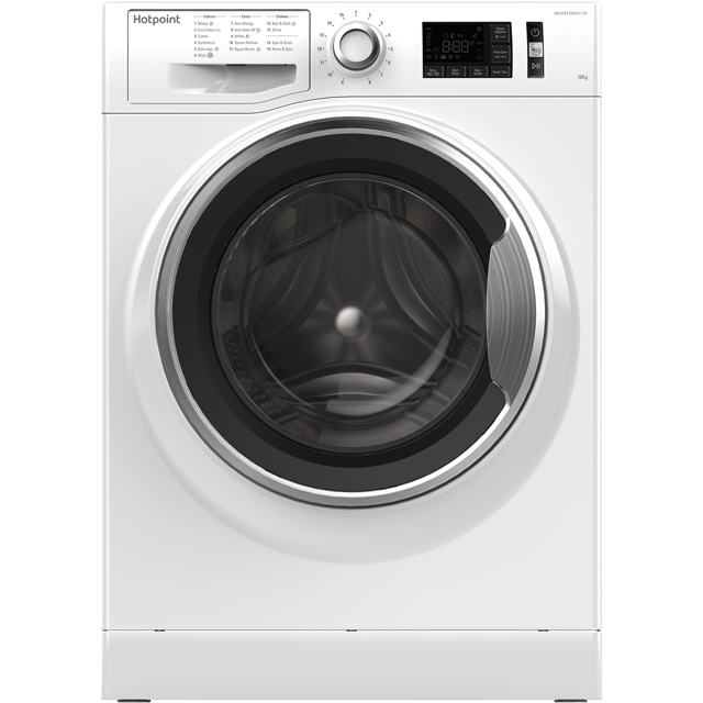 Hotpoint ActiveCare NM111045WCAUK 10Kg Washing Machine with 1400 rpm - White - A+++ Rated - NM111045WCAUK_WH - 1