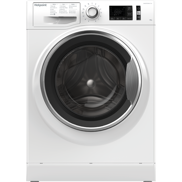 Hotpoint ActiveCare NM111065WCAUK 10Kg Washing Machine with 1600 rpm - White - A+++ Rated - NM111065WCAUK_WH - 1