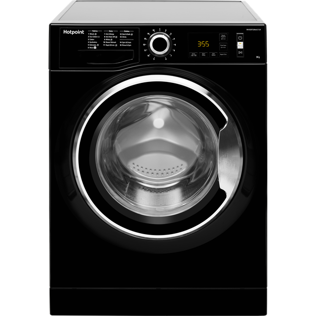 Hotpoint ActiveCare NM11946BCAUK 9Kg Washing Machine with 1400 rpm - Black - A+++ Rated - NM11946BCAUK_BK - 1