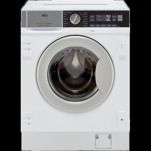 AEG OkoMix Technology L8FC8432BI Integrated 8Kg Washing Machine with 1400 rpm - White - C Rated