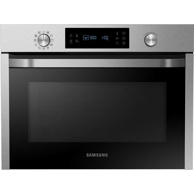 Samsung NQ50J3530BS Built In Compact Electric Single Oven with Microwave Function - Stainless Steel - NQ50J3530BS_SS - 1