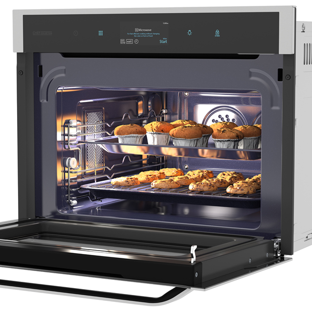 Samsung Chef Collection NQ50J9530BS Built In Electric Single Oven - Black / Stainless Steel - NQ50J9530BS_BKS - 3