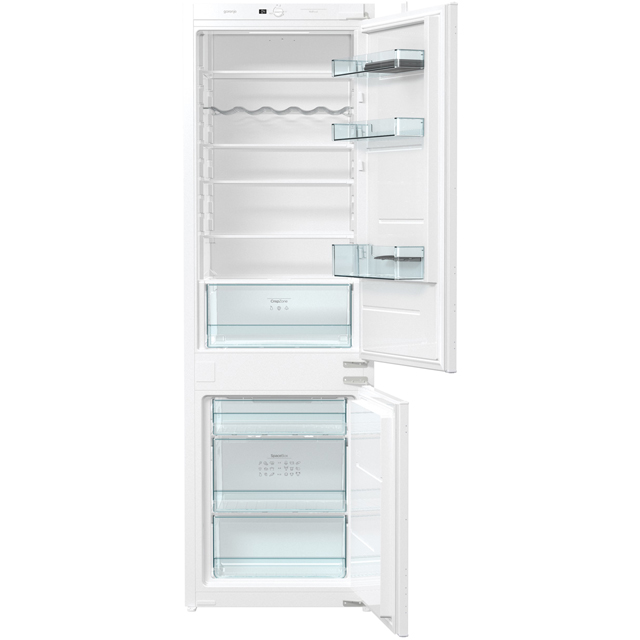 Gorenje NRKI4181E1UK Integrated 60/40 Frost Free Fridge Freezer with Sliding Door Fixing Kit - White - A+ Rated - NRKI4181E1UK_WH - 1