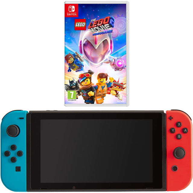 Nintendo Games NSHEADCST55889 Nintendo Switch in Neon Red/Blue