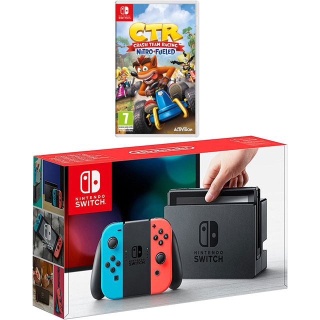 Nintendo Games NSHEADCST56575 Nintendo Switch in Neon Red/Blue